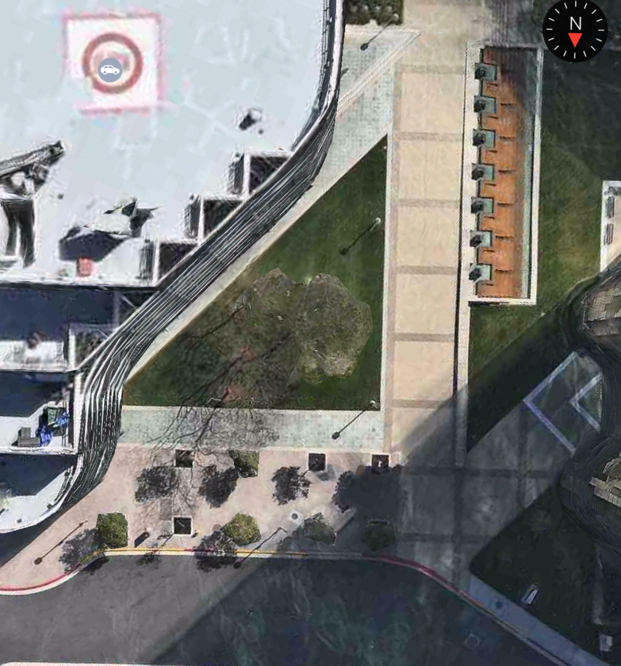 Satellite View of Game Area