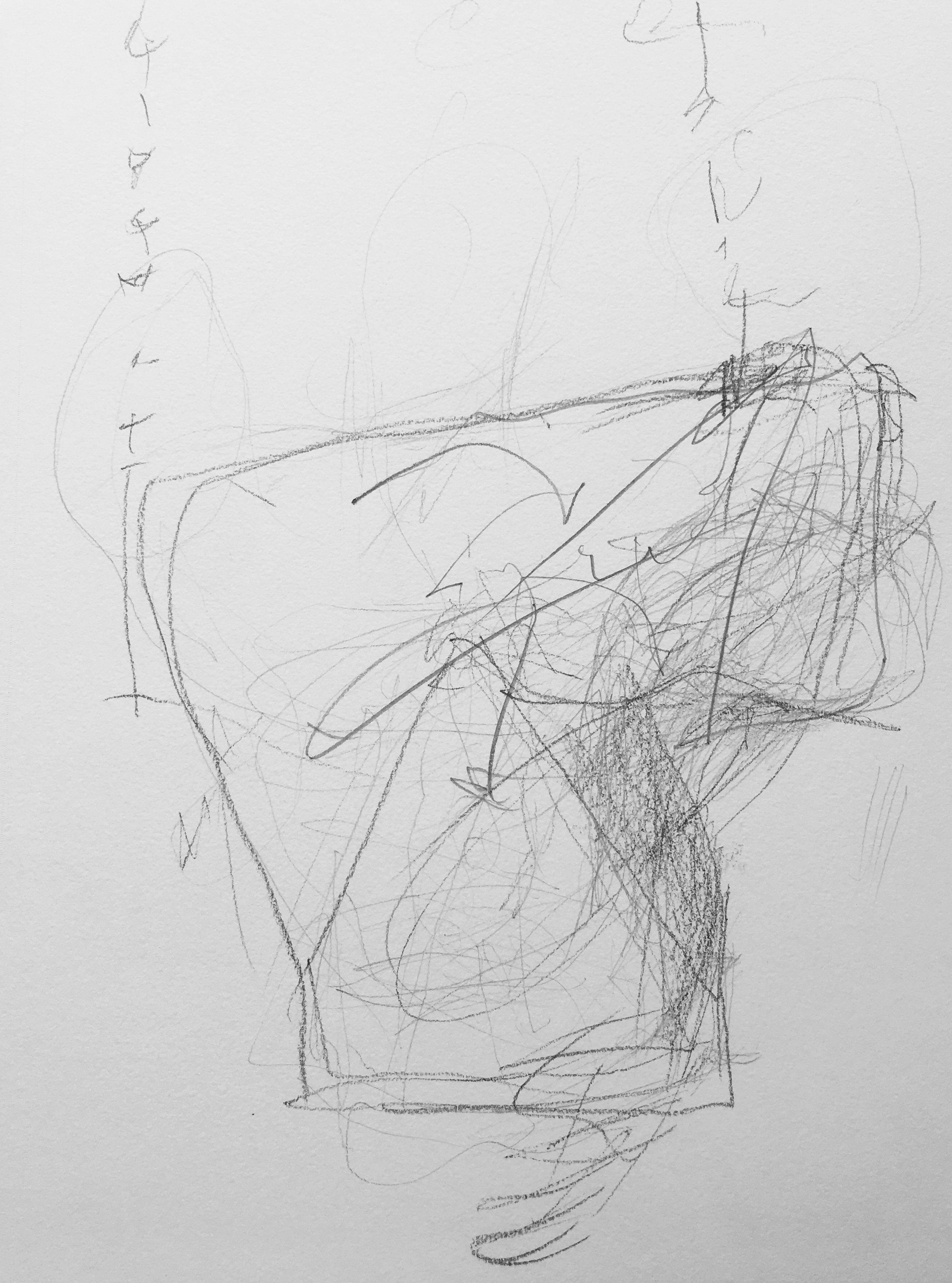 """TBA  Graphite on Paper  9"""" x 11"""""""