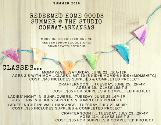 Check out  @redeemedhomegoods  Instagram feed|stories for more info and pics!