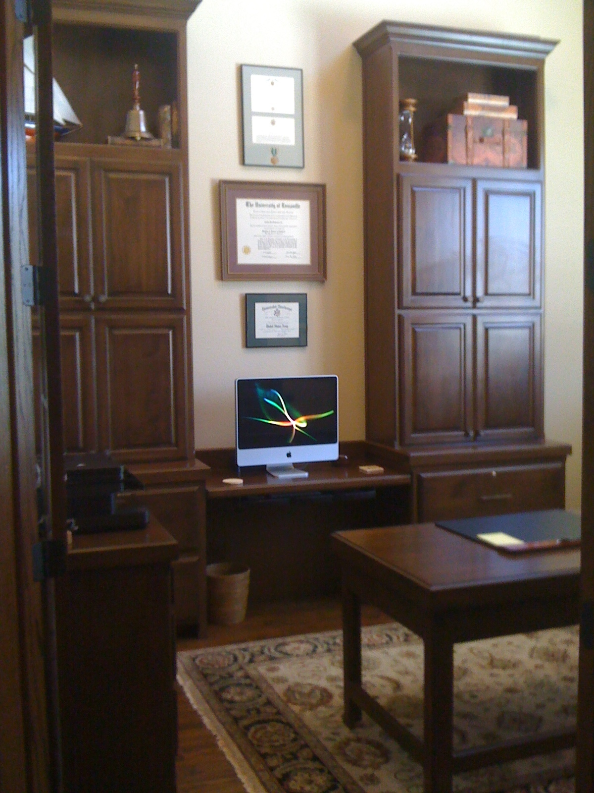 Tower Storage and Display on Traditional Lateral File Cabinet