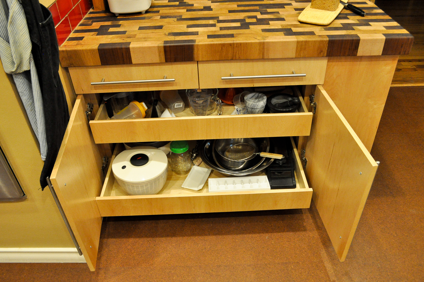 Butcher Block Island with Storage