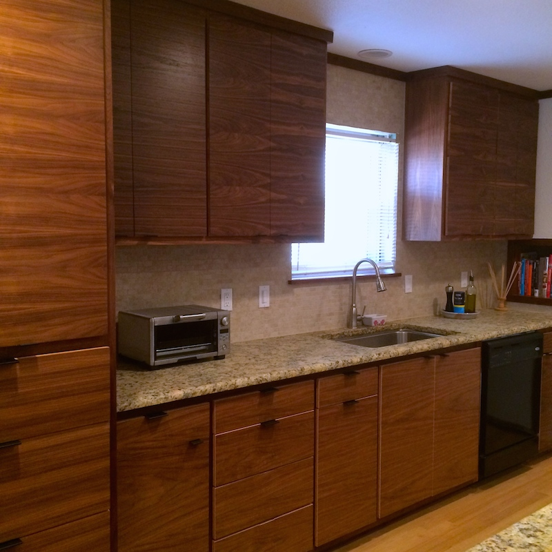 Contemporary Walnut kitchen Sink cabinet