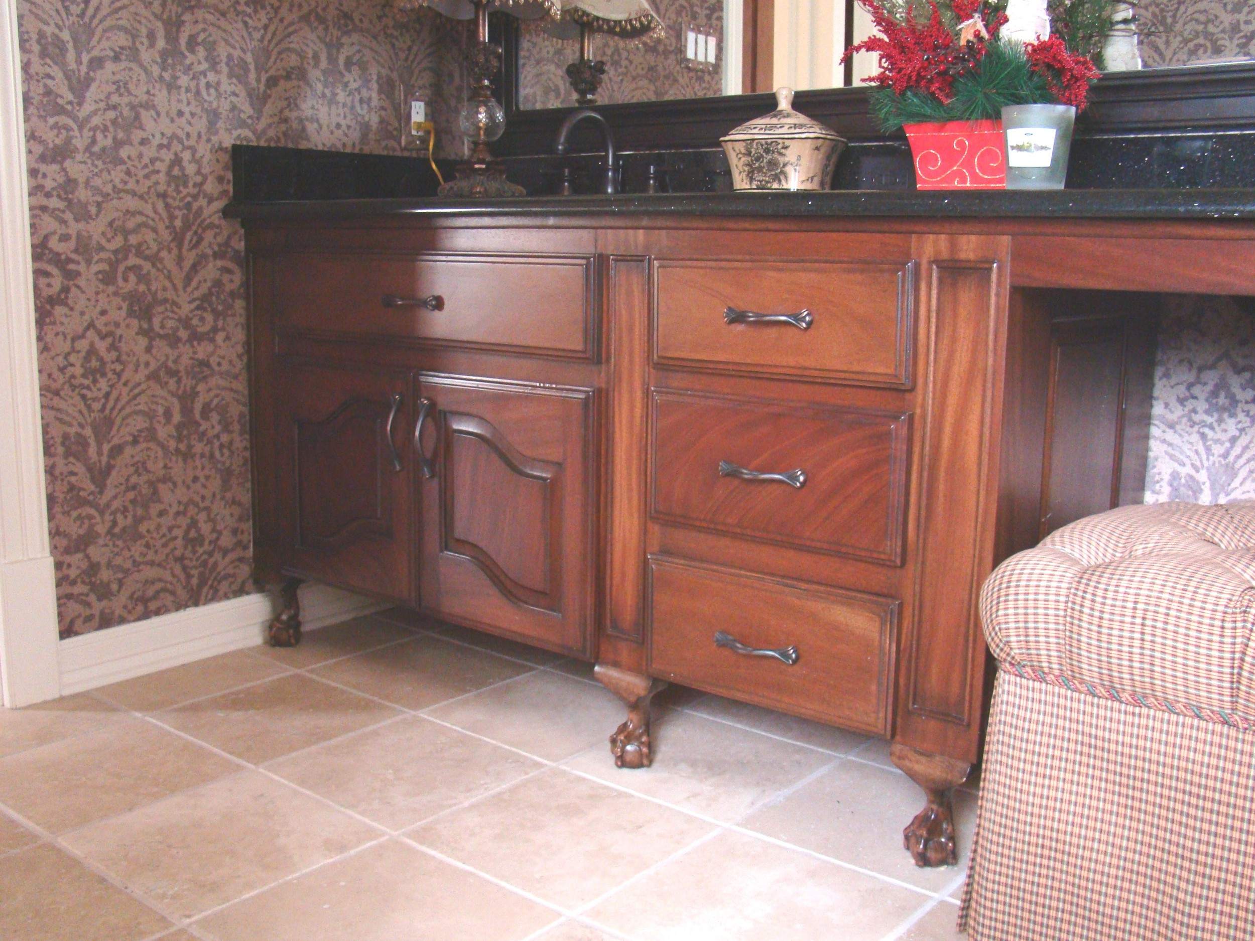 Mahogany Ball and Claw Vanity