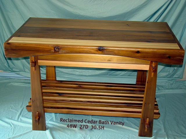 Craftsman Cedar Vanity