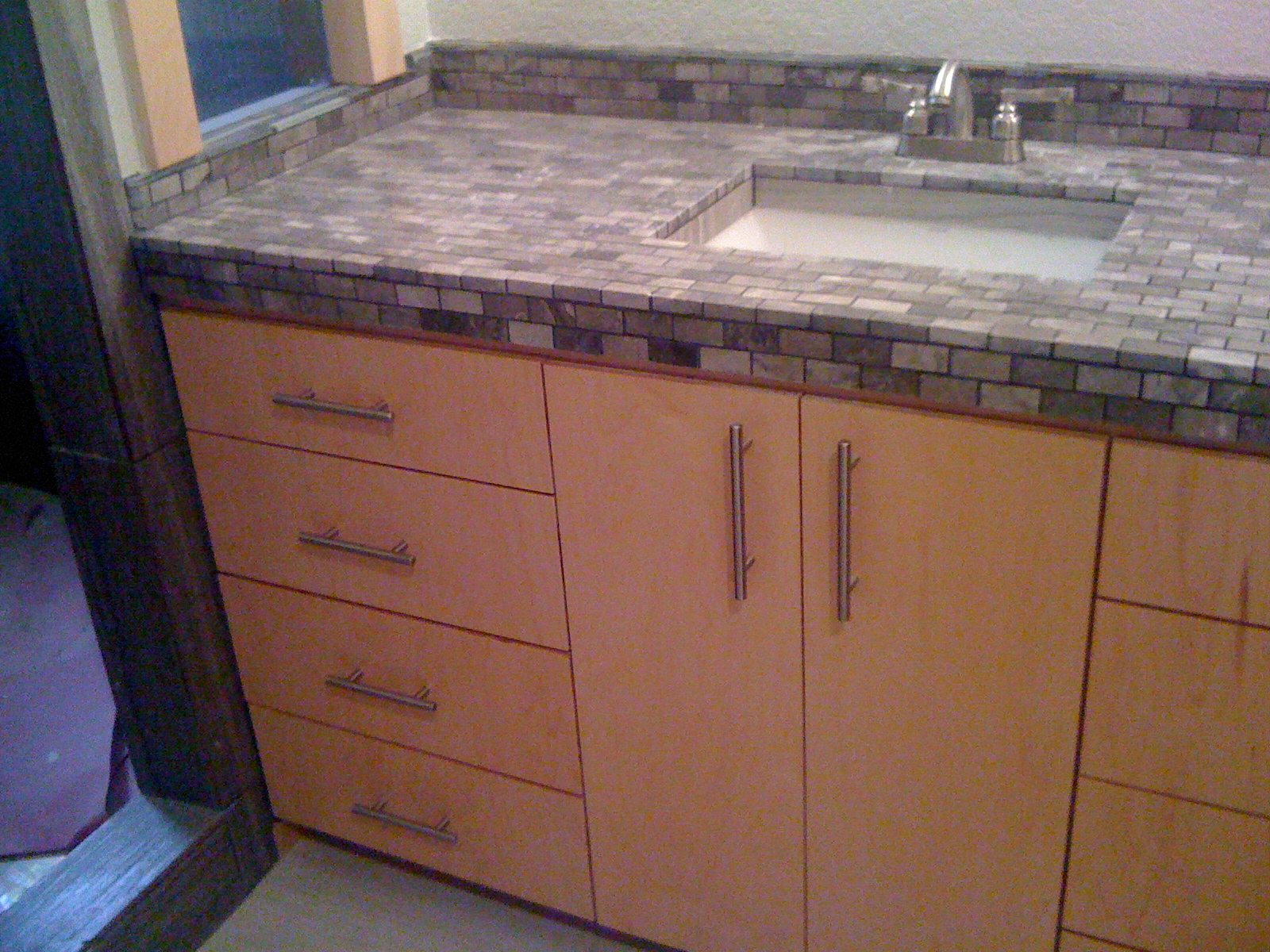 Clear Maple Vanity and Sink
