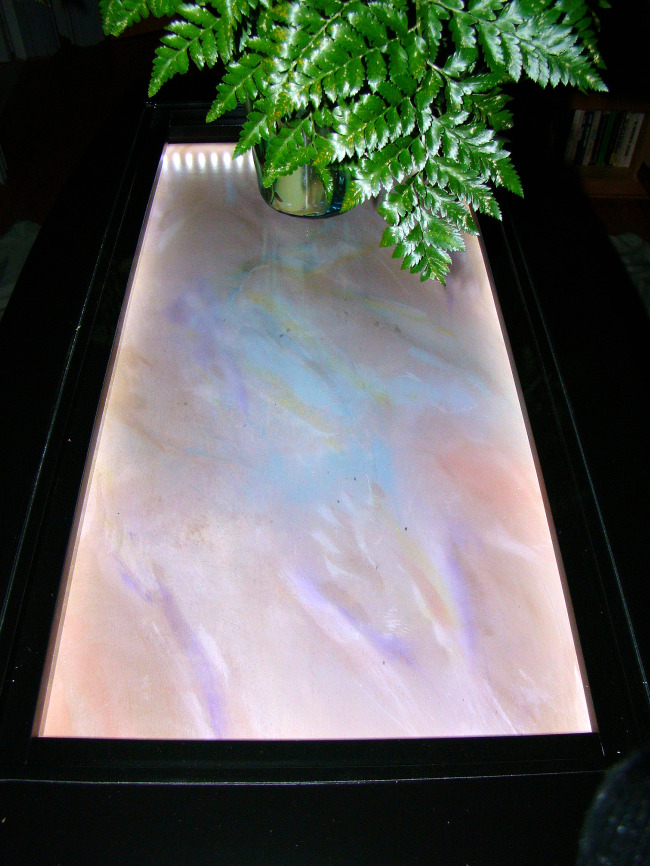 Hand Painted Display Table Inset Panel