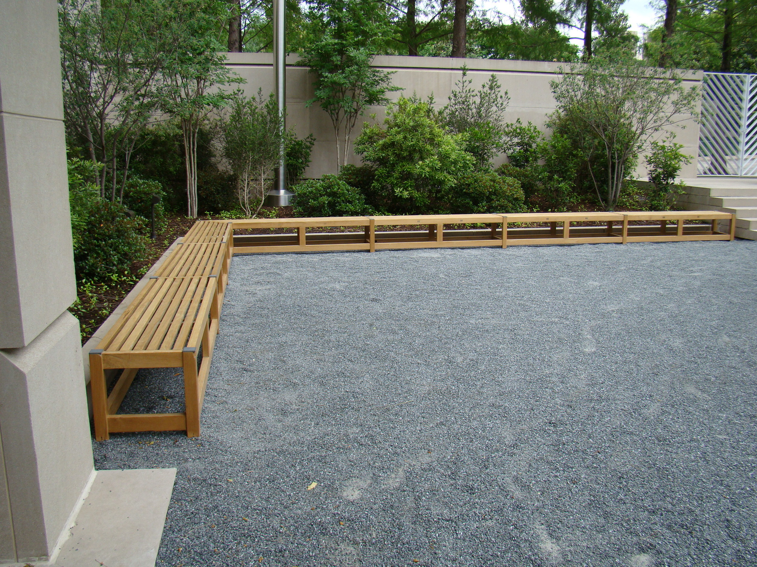 Dallas Museum of Art Bench Refinishing