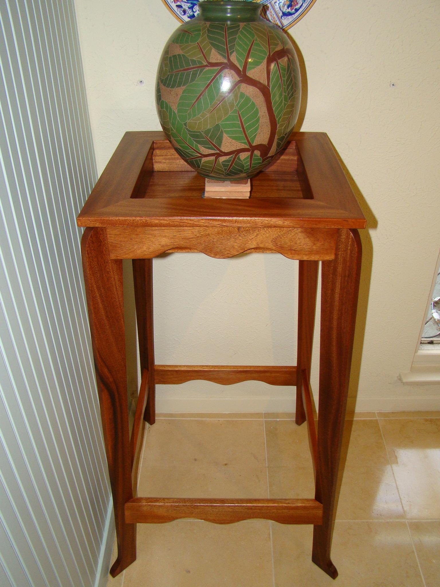 Mahogany Plant Stand