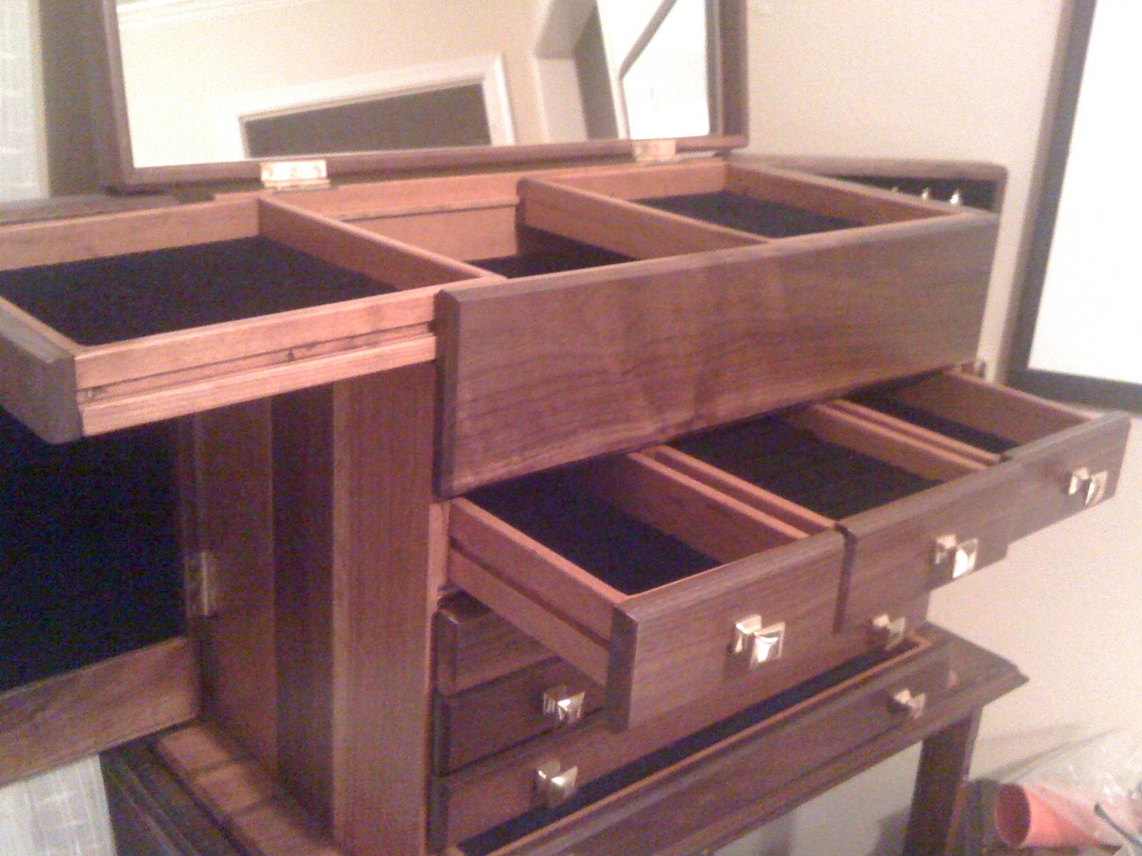 Jewelry Box with Interior Storage and Mirror