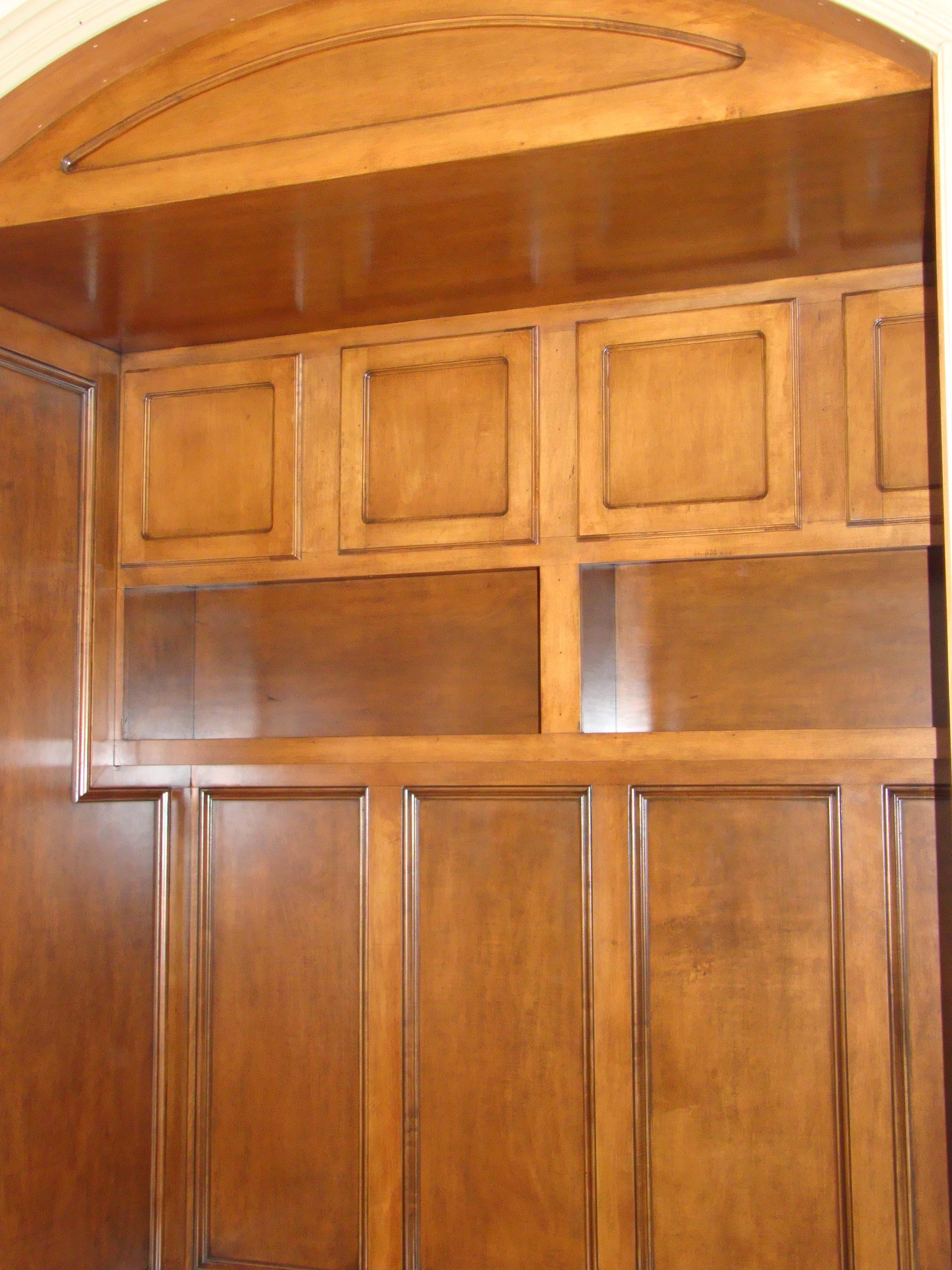 Mud Room Paneled Seat with Storage, Lights and Hooks