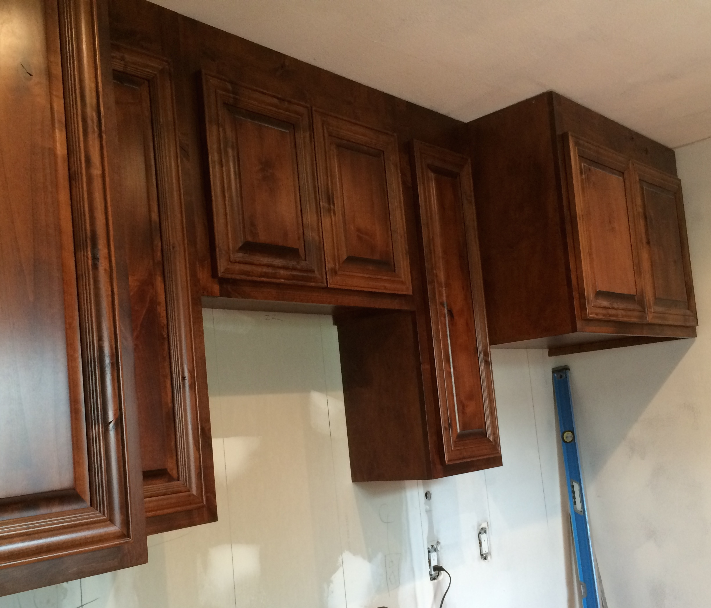 Knotty Alder vent cabinets