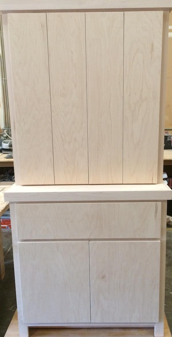 Maple Bi-fold Door Equipment Cabinet