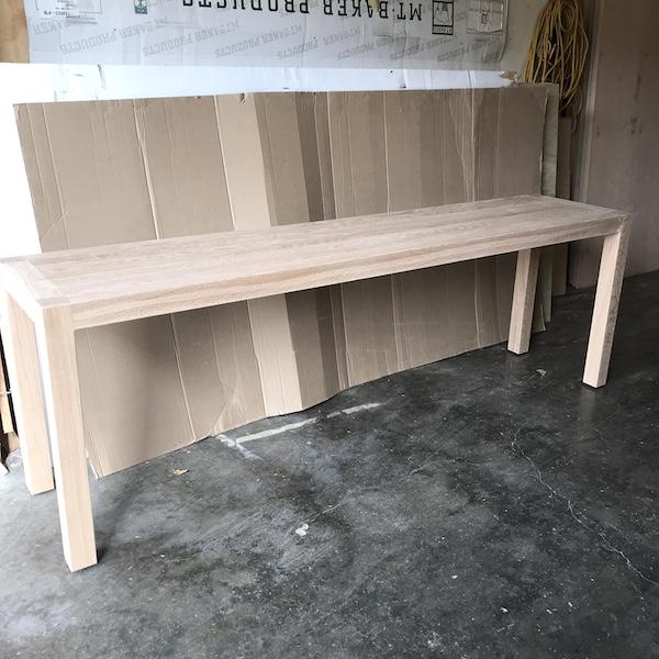 Parsons White Oak Sofa Table