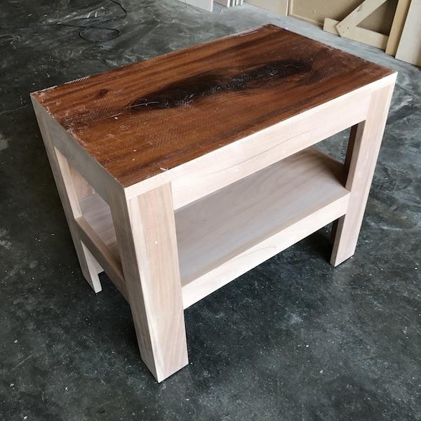 Mahogany Parsons Side Table