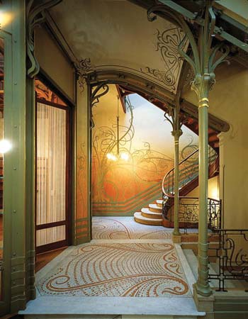 Hotel Tassel  in Brussels curved staircase.