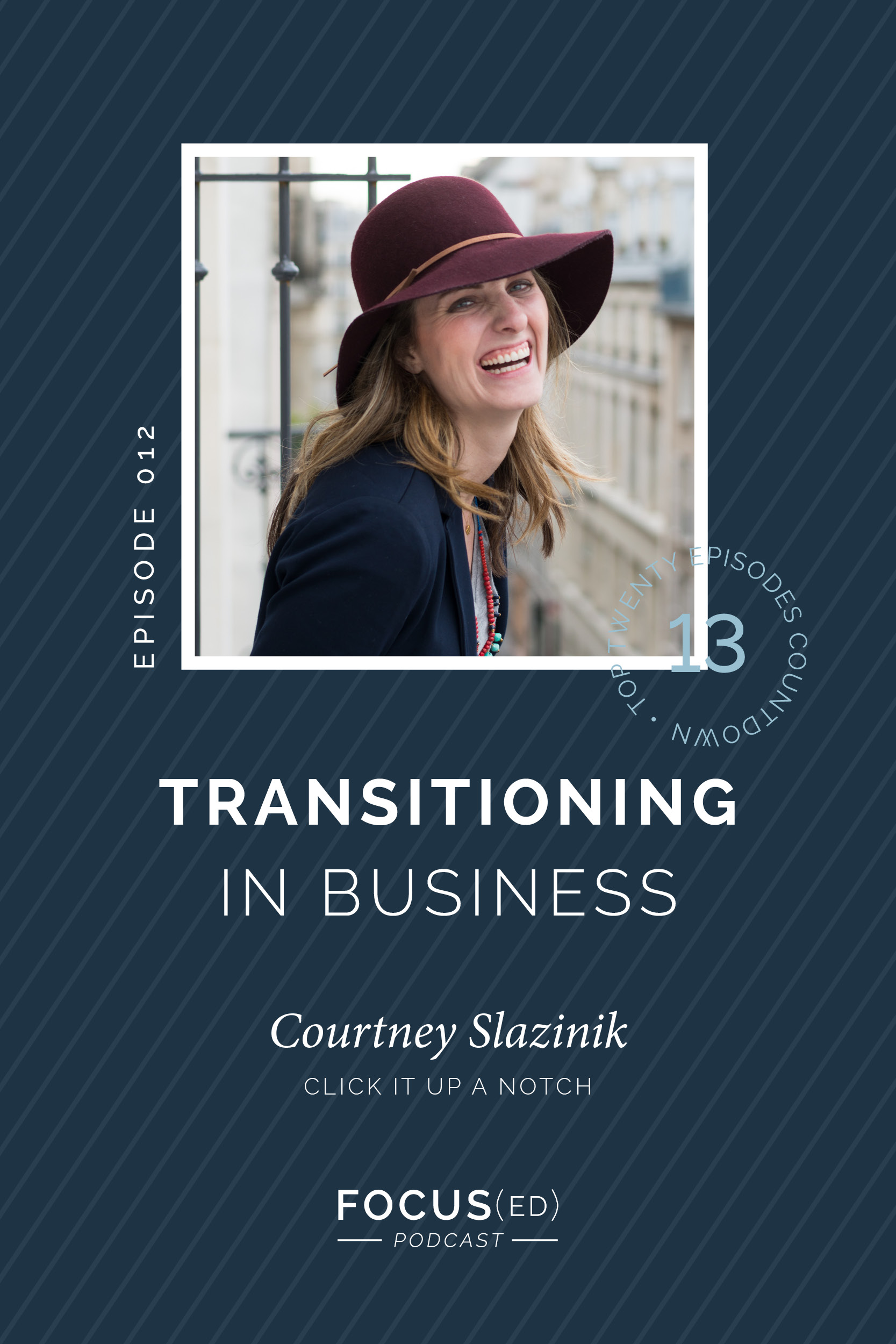Top 20: #13 How to make transitions in your business, Courtney Slazinik of Click it up a Notch | Focus(ed) Podcast
