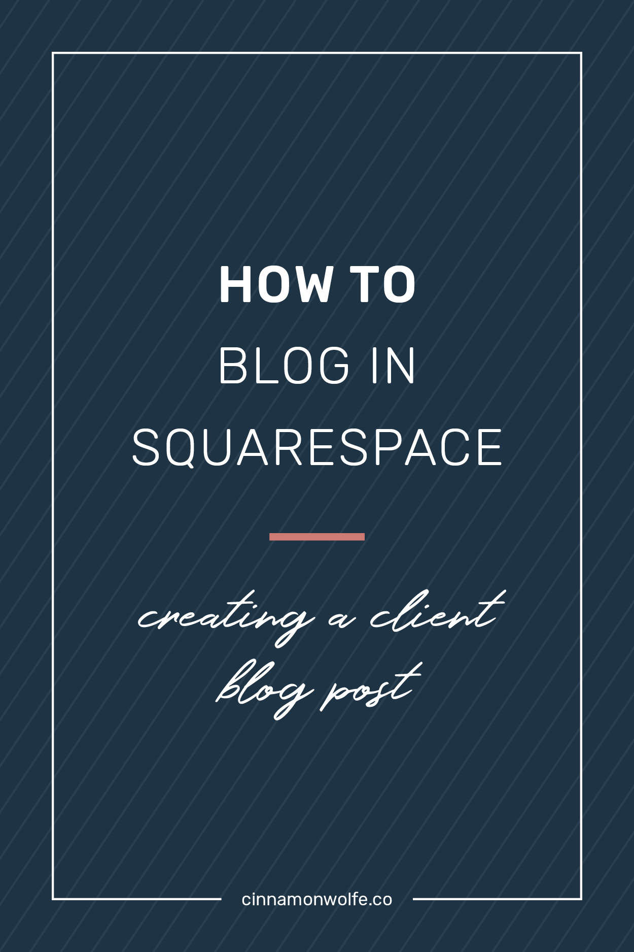 How to create a blog post in squarespace