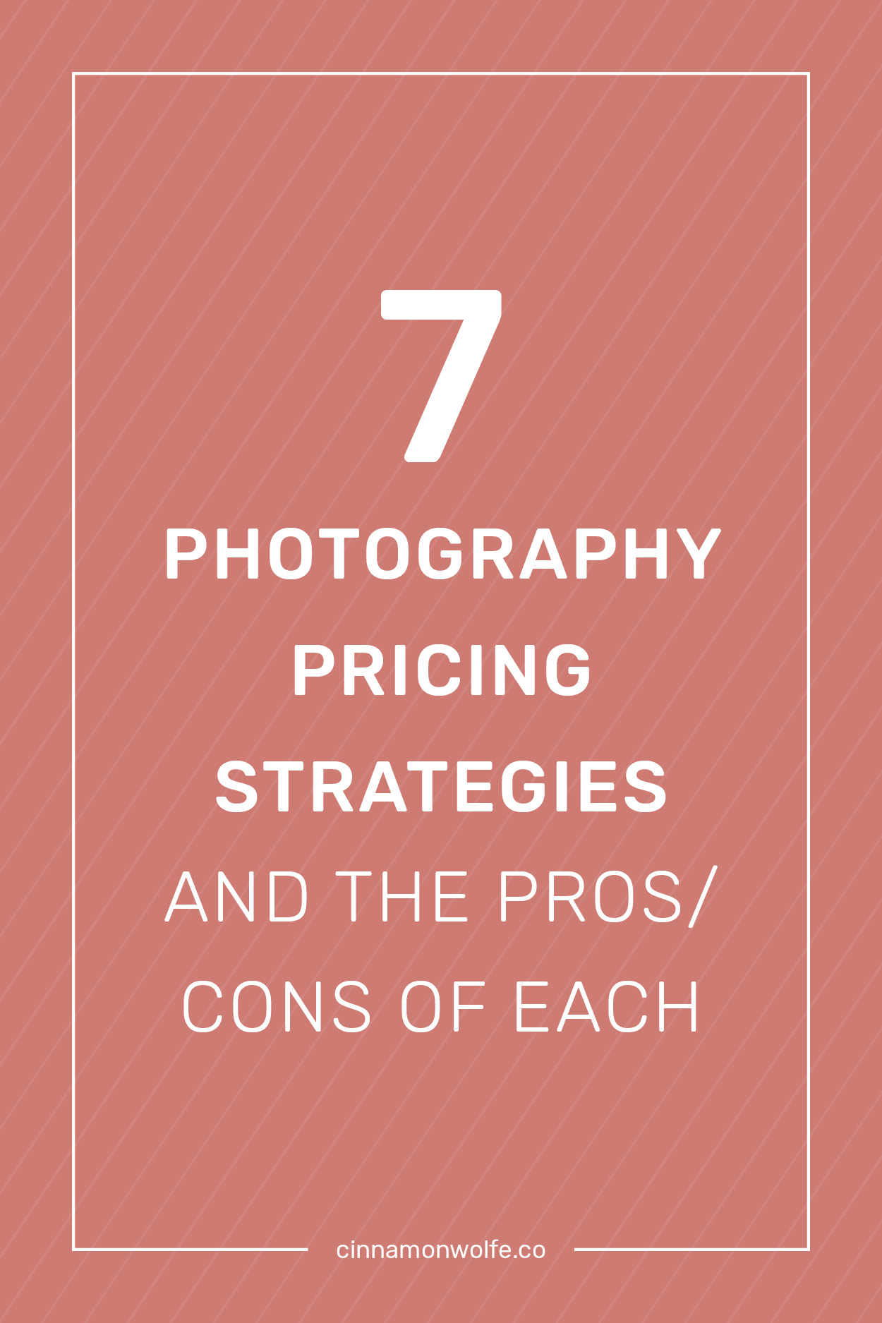 7 photography pricing strategies & the pros/cons of each  |  Cinnamonwolfe.co