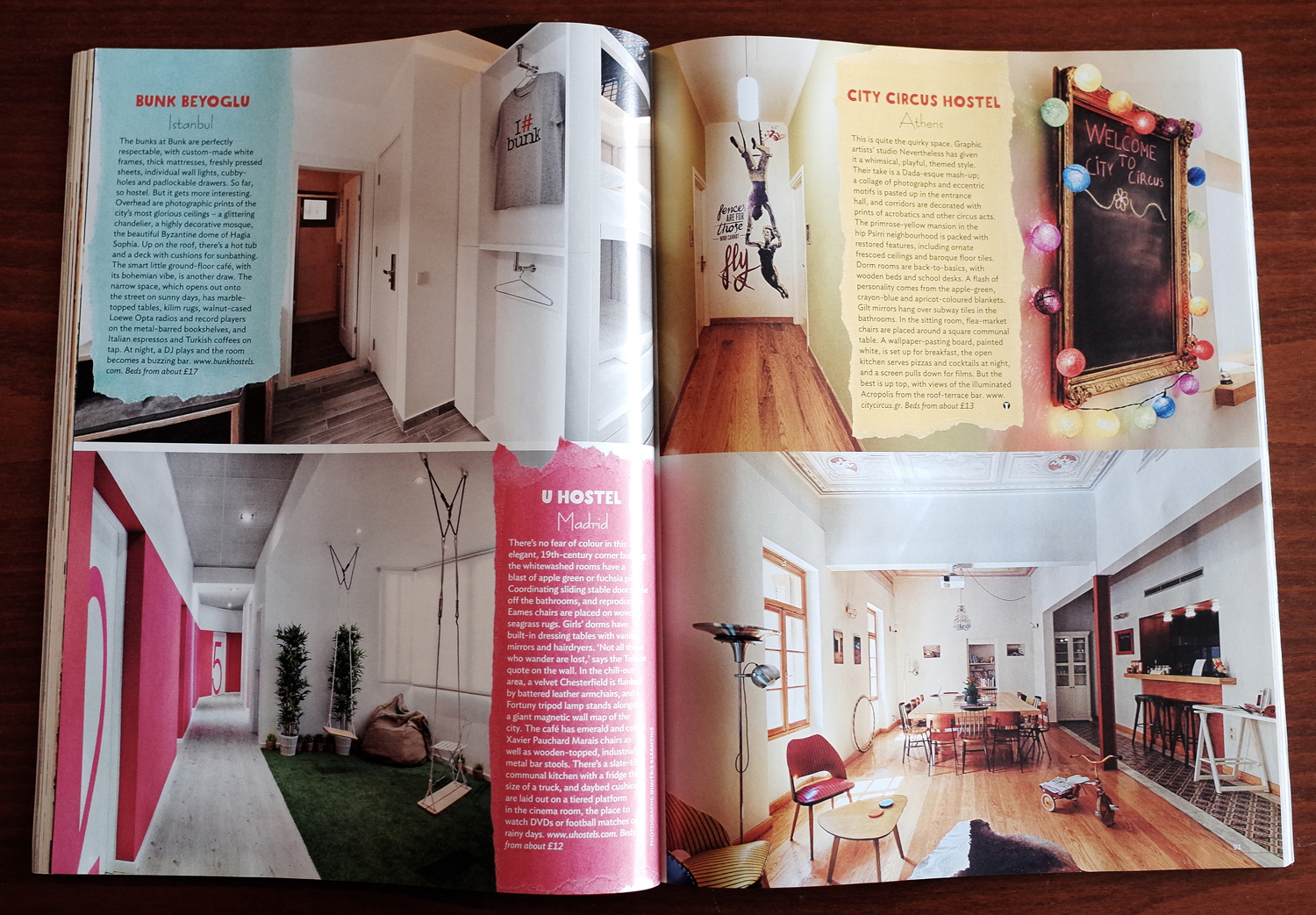 City Circus Hostel in  Conde Nast Traveller , 01/2014