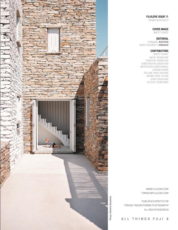 Publication of my architectural photography portfolio in   Fujilove magazine  , 02/2017