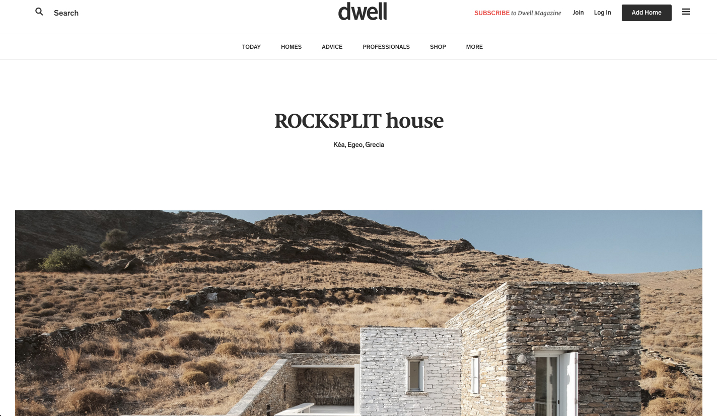 Rocksplit House  by COMETA Architects in   dwell  , June 2017