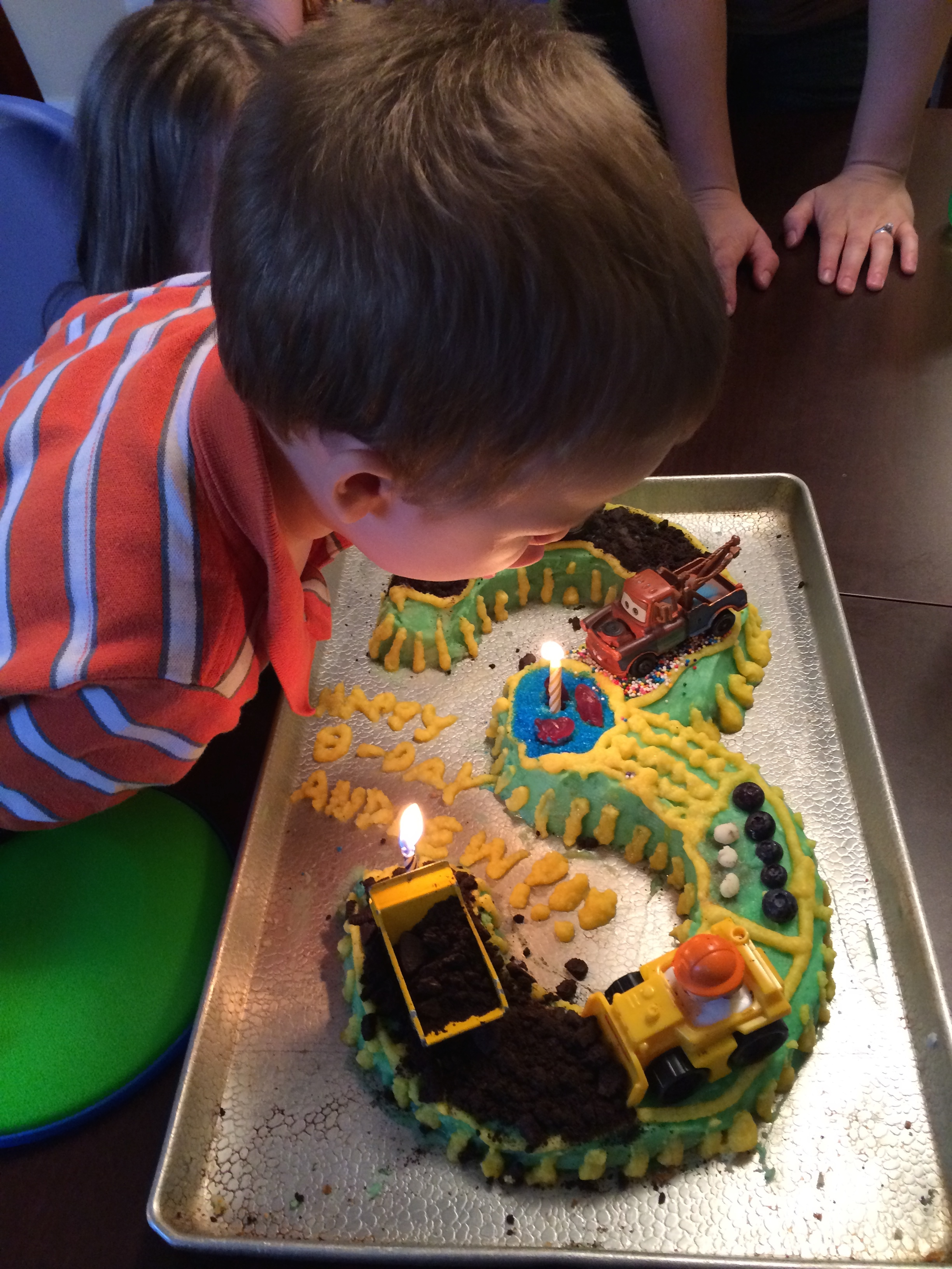 We celebrated his birthday early since it fell on a day that was during our trip and didn't want to miss it.