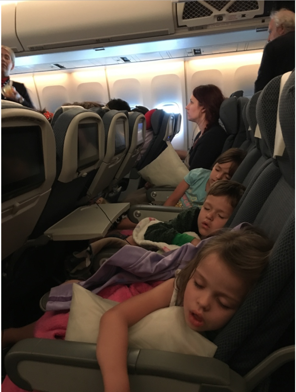 Thankfully the kids slept for a good portion of the flight over the Atlantic.  Unfortunately, on the first night they were all up and playing loudly at 1:30am during our first night.