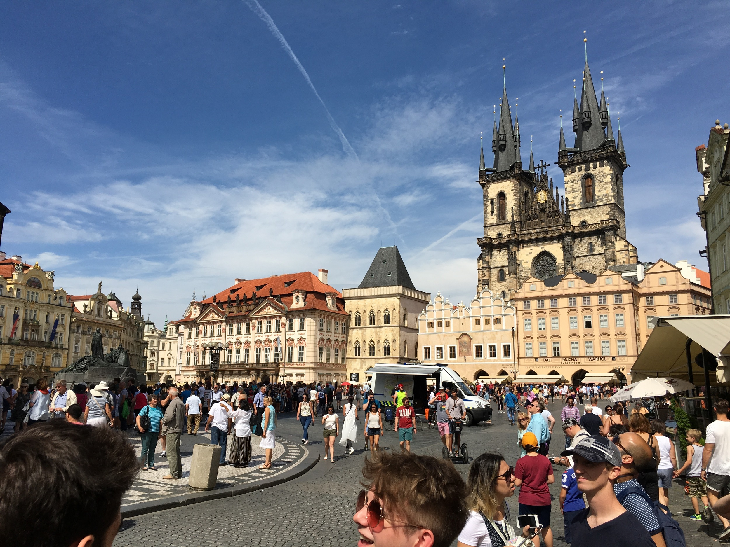 Experiencing the beauty of Prague before making our way to camp in Brno.