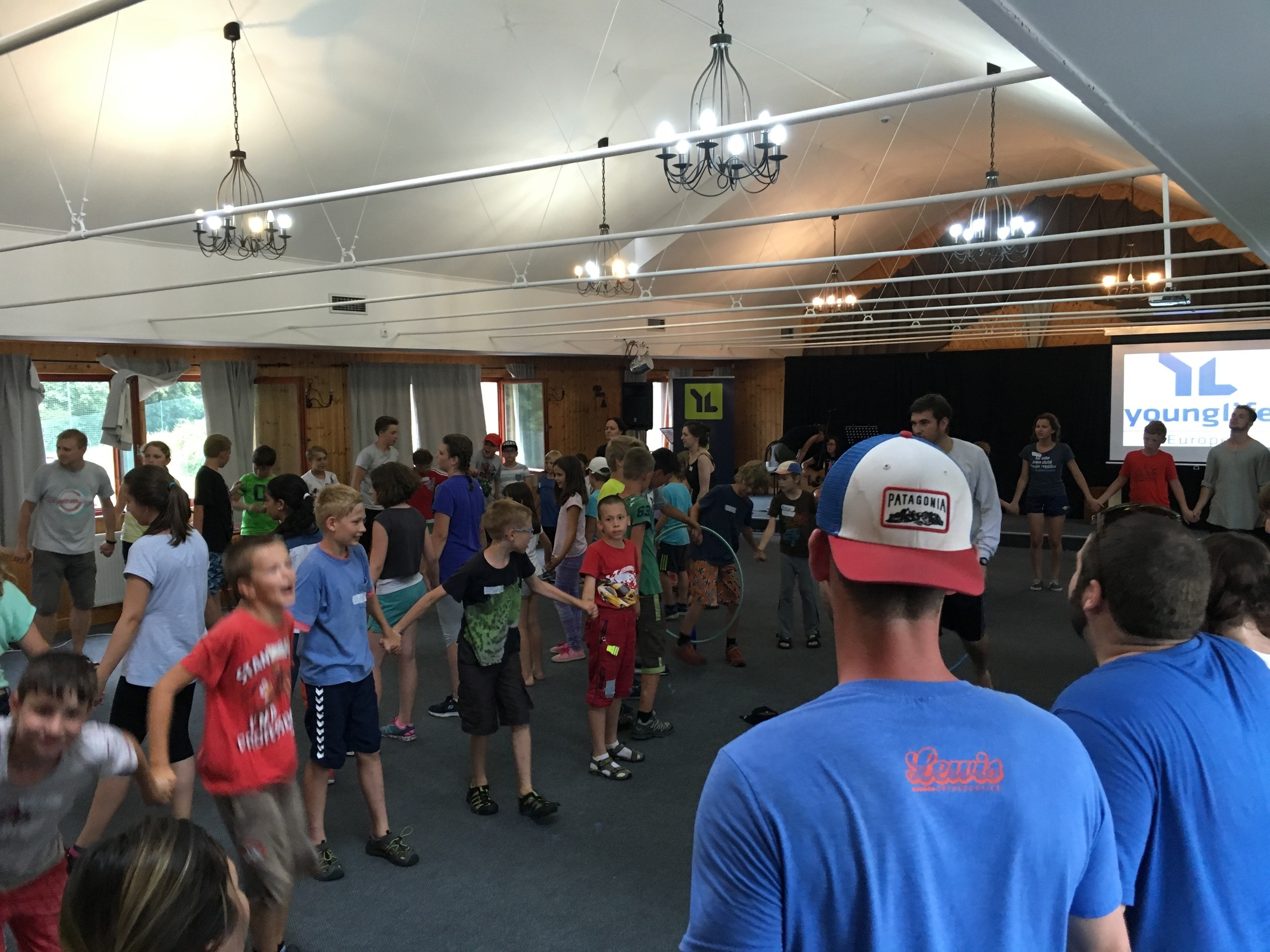 Camp games gave the kids an place to let loose and have fun. Then every evening it would quiet down for a lesson, where each night led up to the Gospel being made clear.