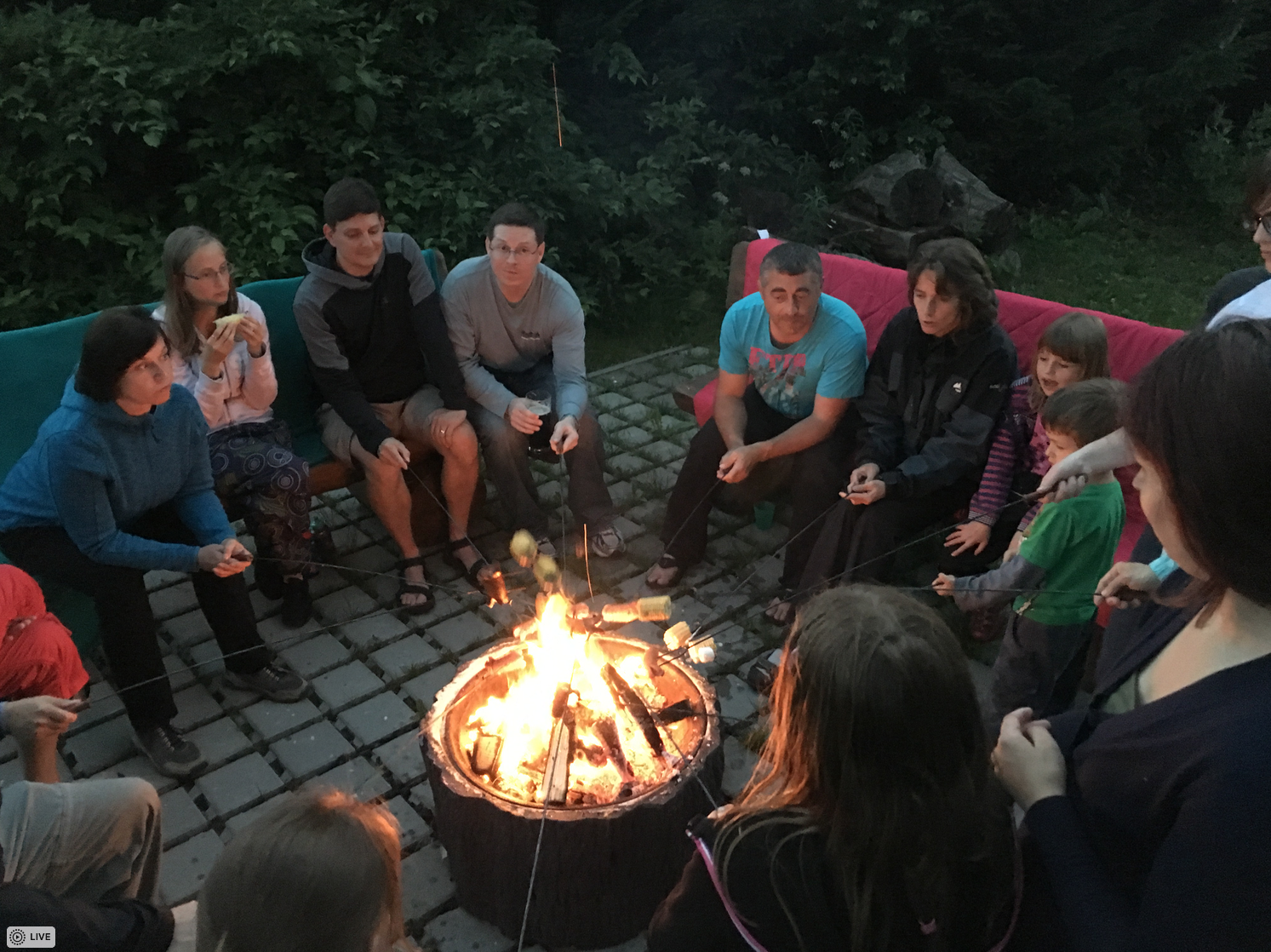 Campfire conversations are the best.