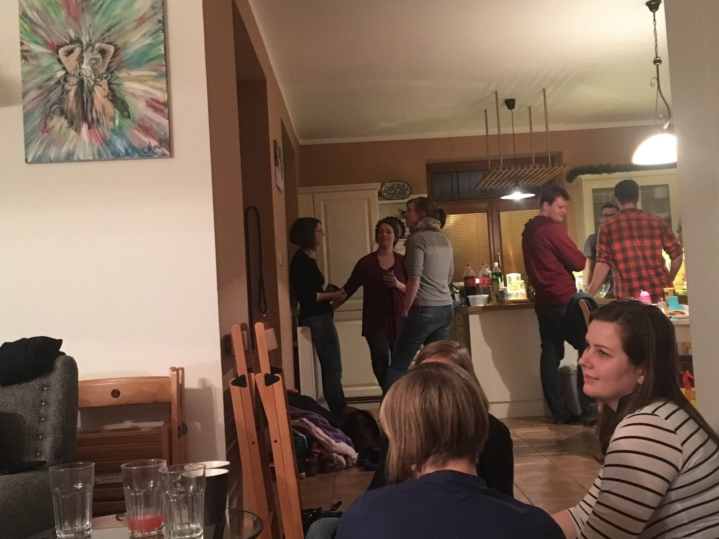 The Christmas party with about 55 people in the house made for a memorable night!