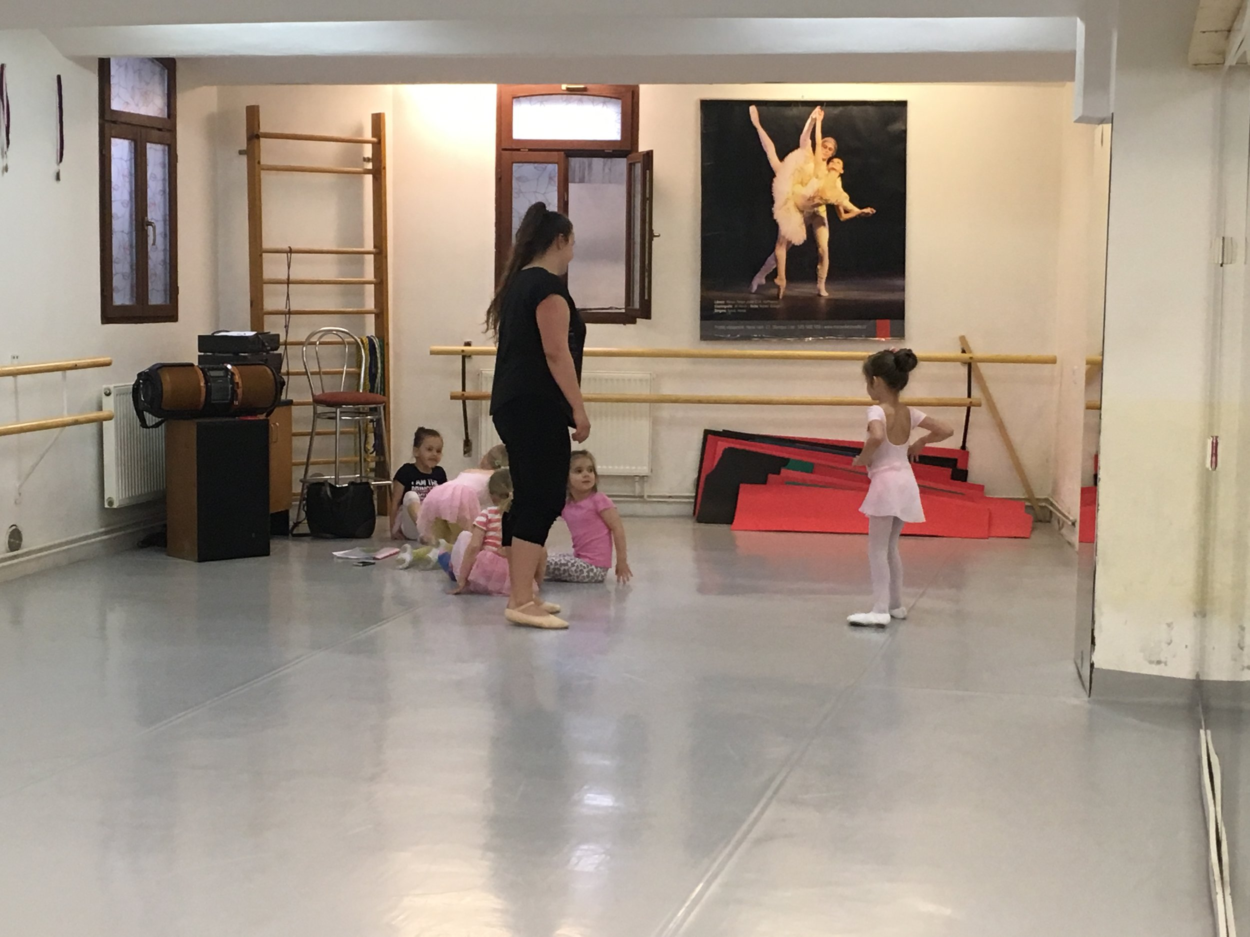 Nora being introduced to her Ballet class.