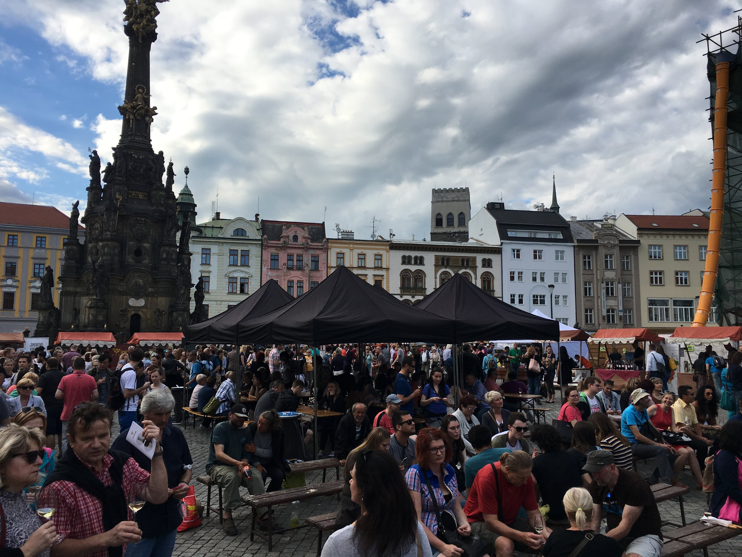 Olomouc Wine (Vino) festival.  Moravia, the region of CZ that we live in, has wine worth bragging about.