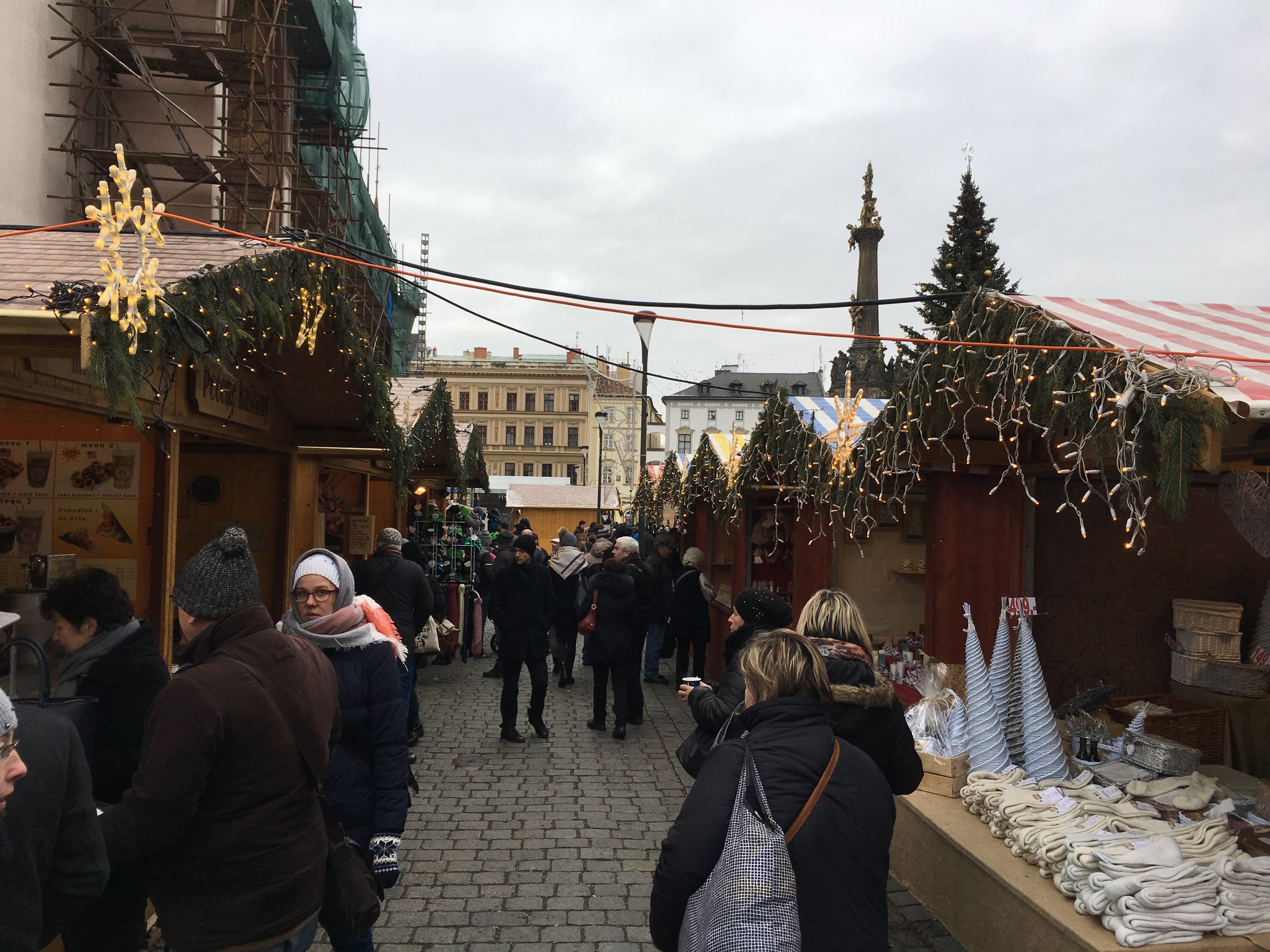They put up little shops in the city center during the Christmas season.  Half of them are devoted to Christmas Punch (a hot sweet wine mixed with....things).