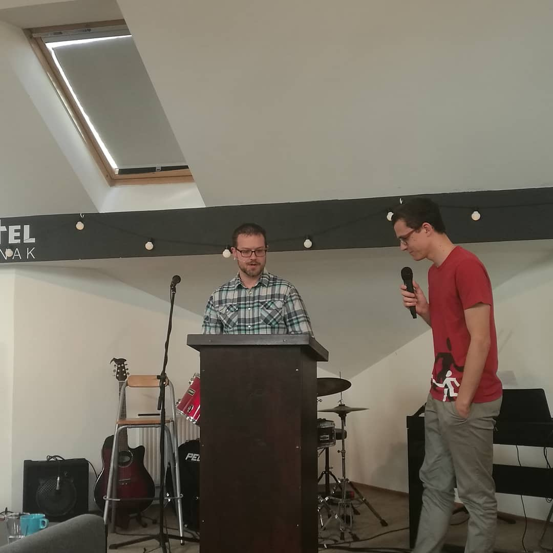Preaching on Romans 1:8-15 at Kostel Jinak (Different Church...or a Church Differently)