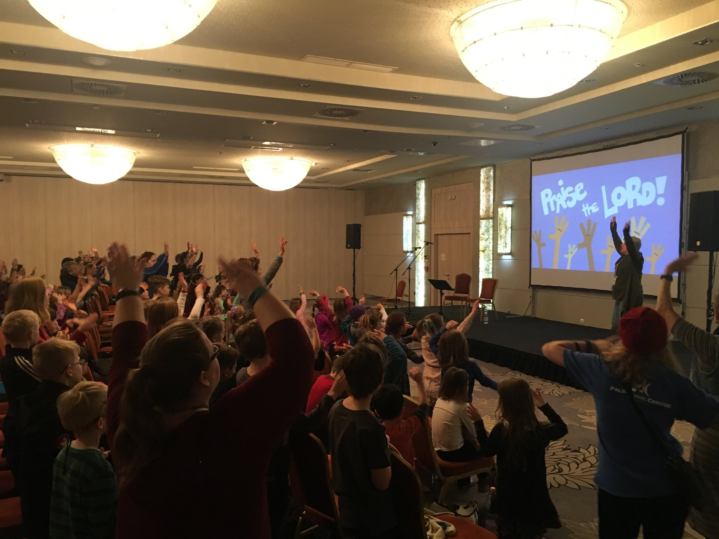 It was really sweet for the kids to spend time worshiping Jesus with other MKs.