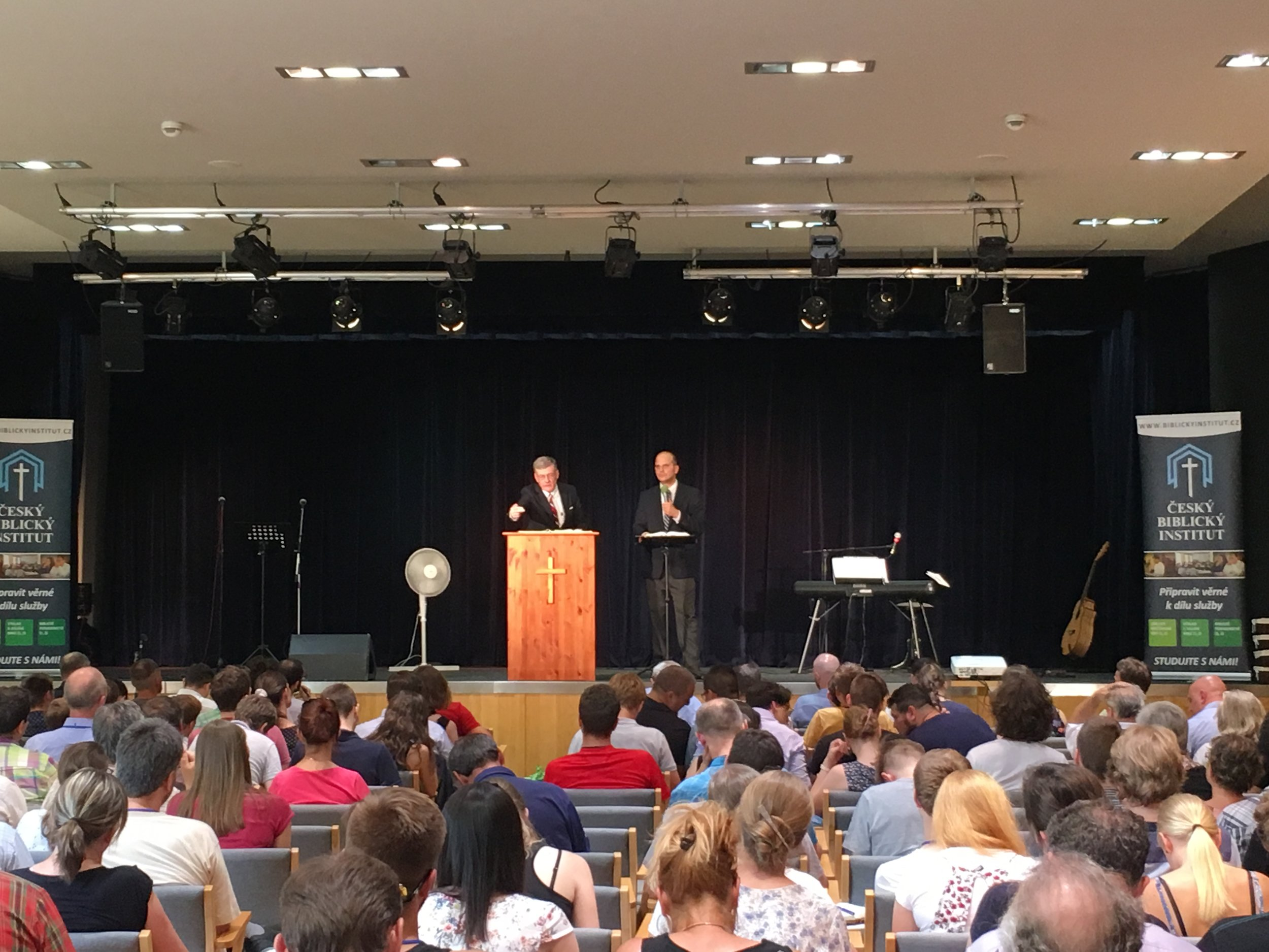 We went to meet a potential church planting family in Kroměřiž, and ran into a conference with Steve Lawson.