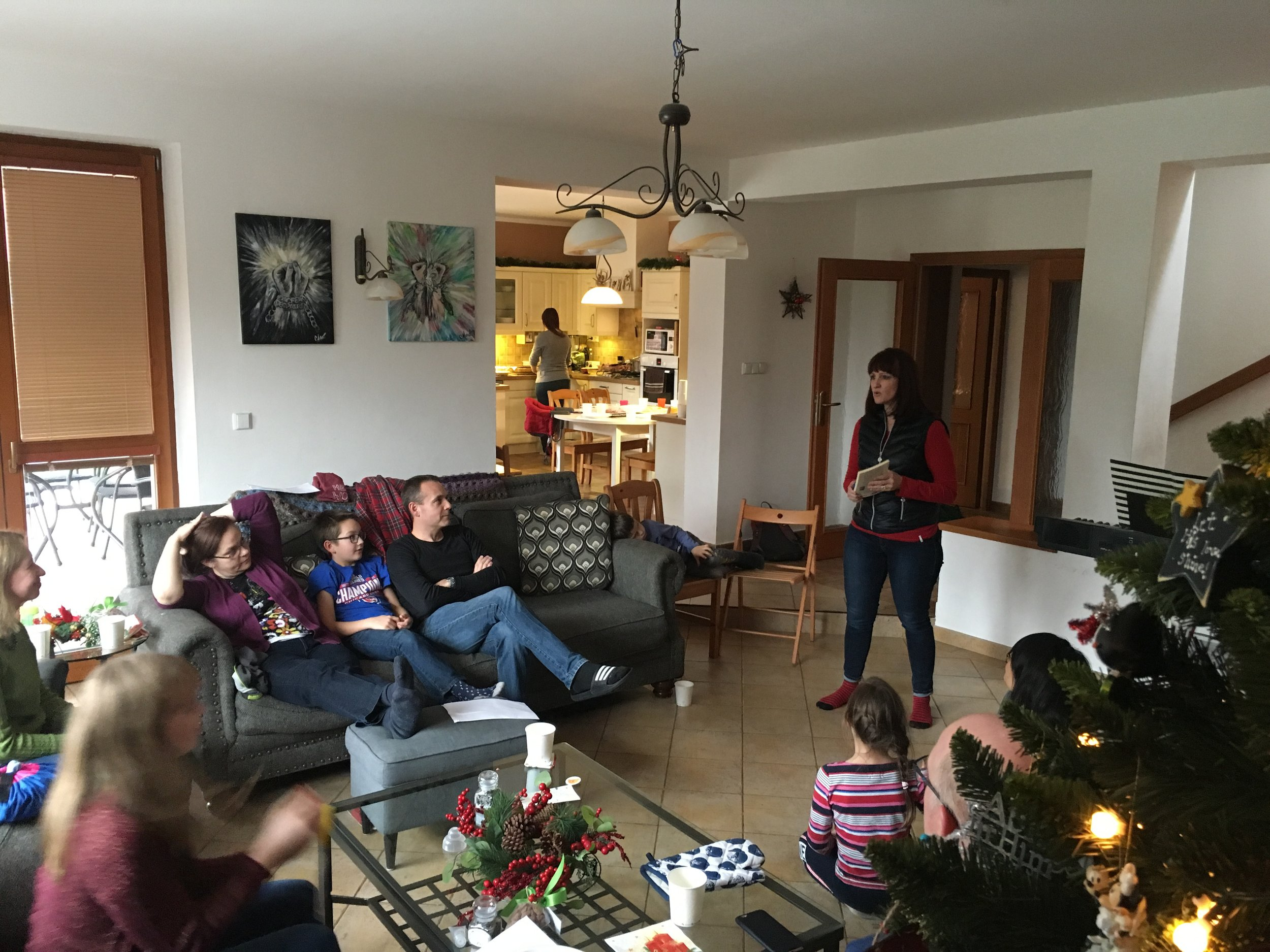 Our Pioneers team had our Thanksmas meeting at our place this year.