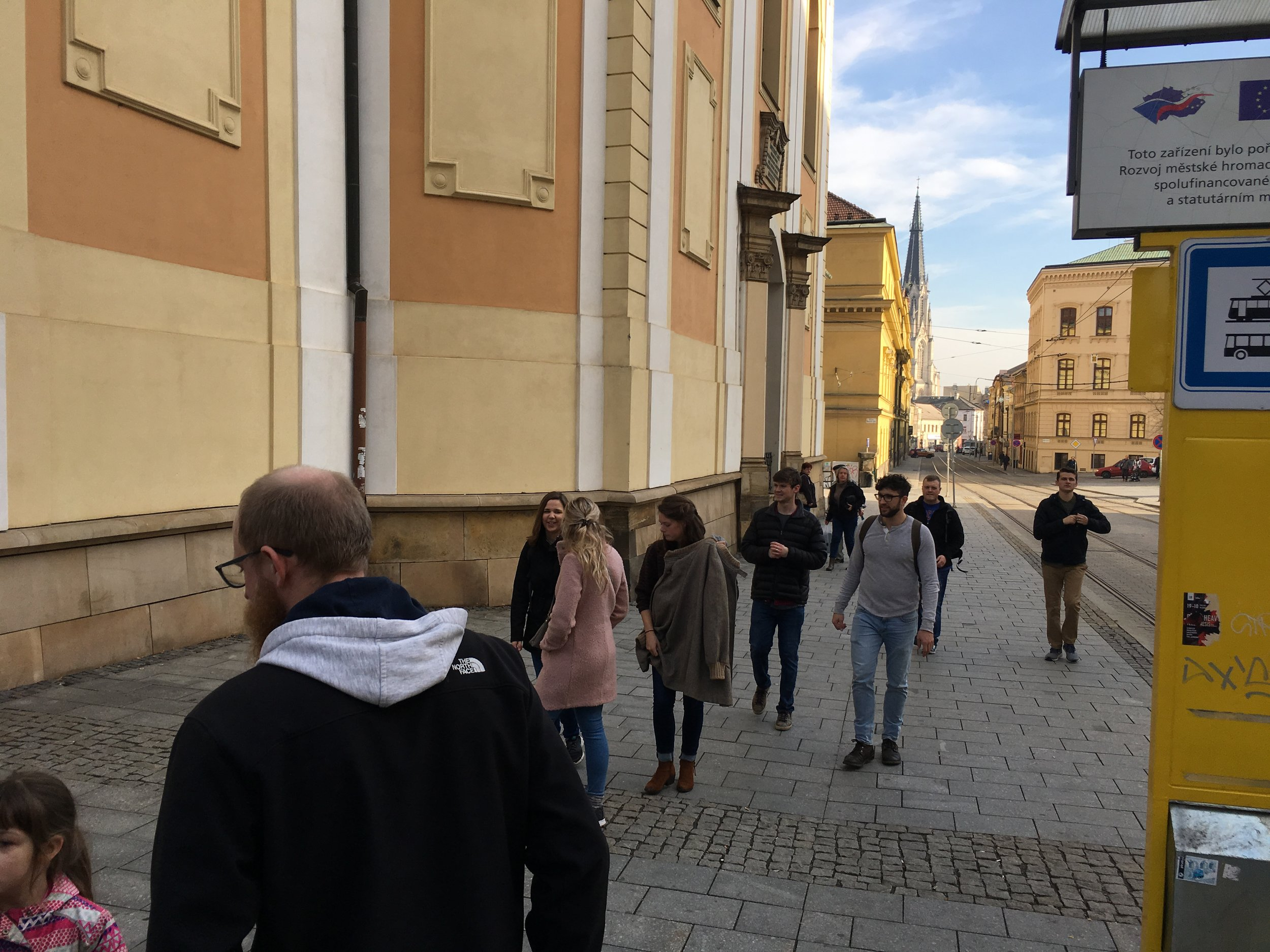 Walking through Olomouc