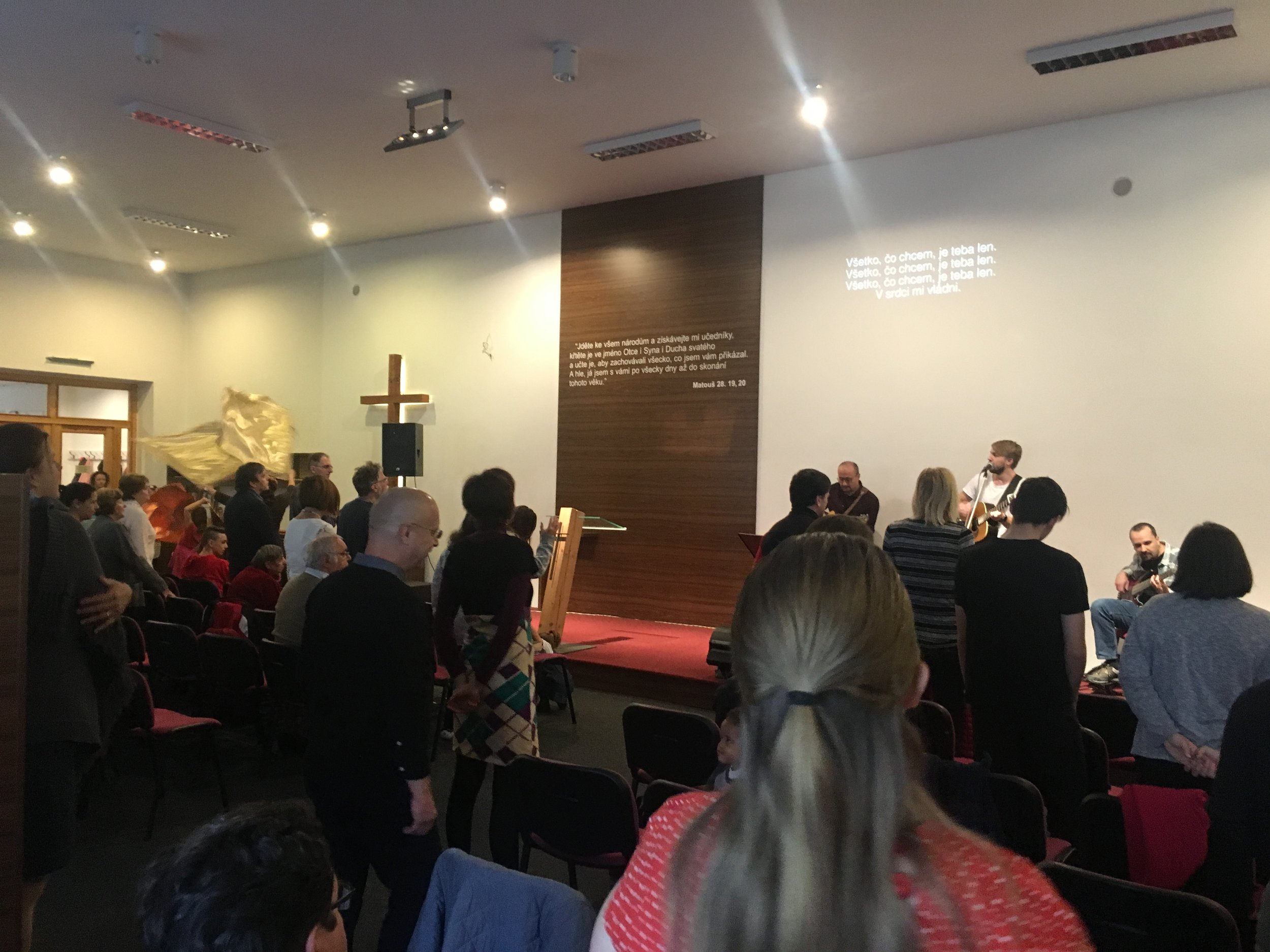 A part of the men's study requires you to visit another local church to get an understanding of their differences/areas of emphasis. I decided to visit the Apostolic church of Olomouc. It is much like the Assemblies of God denomination in the U.S.