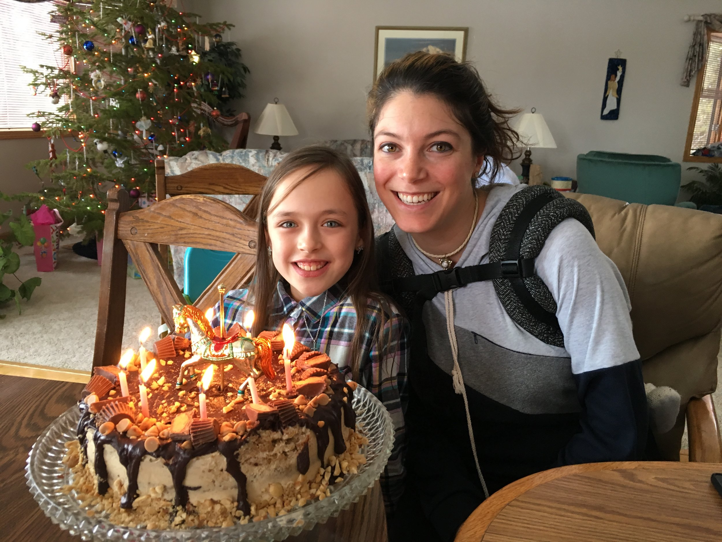 Addey shared her 9th birthday with her Aunt Kathleen.