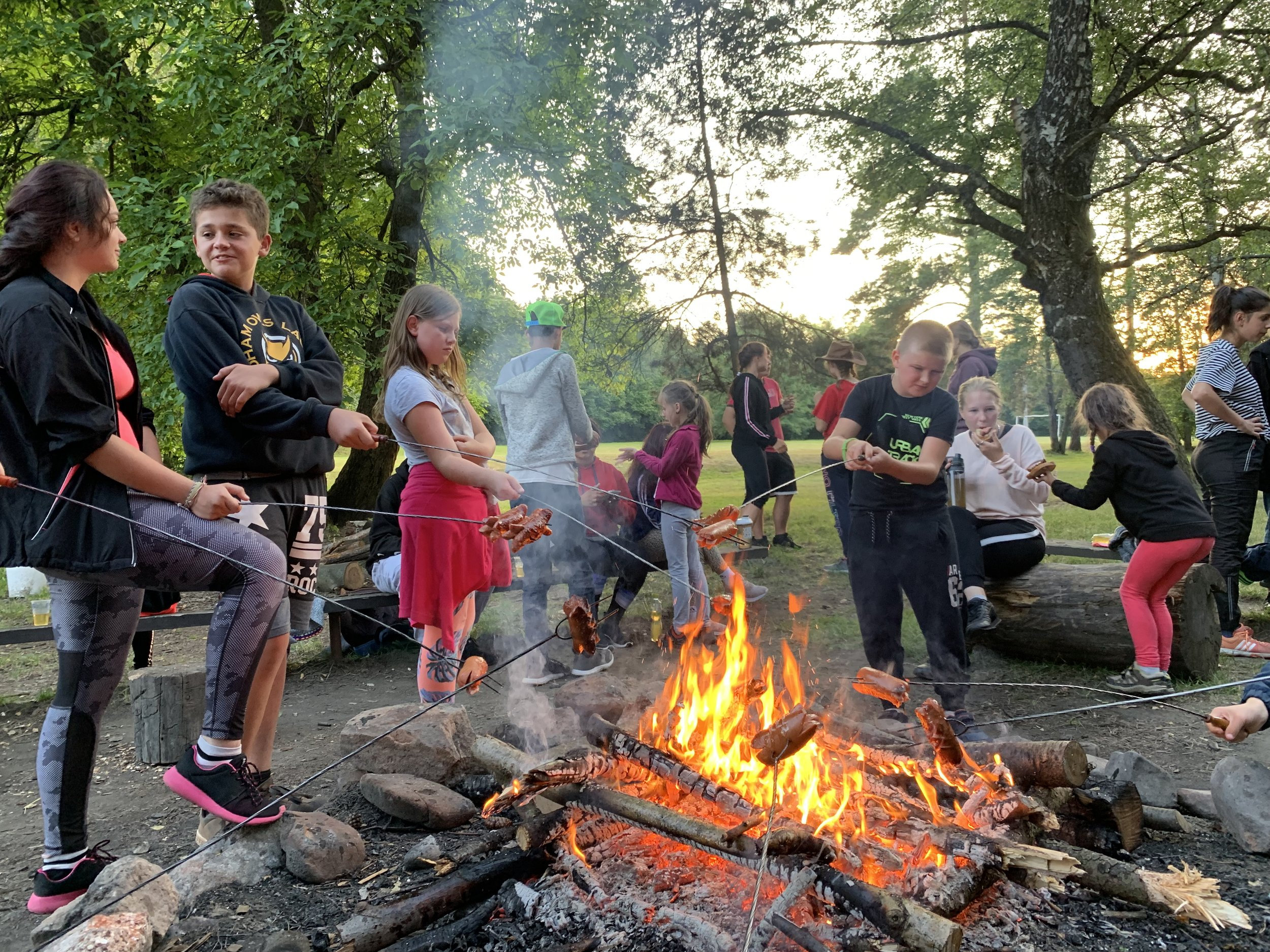 While American's do Smores at campfires, Czechs do Špekáček sausages.