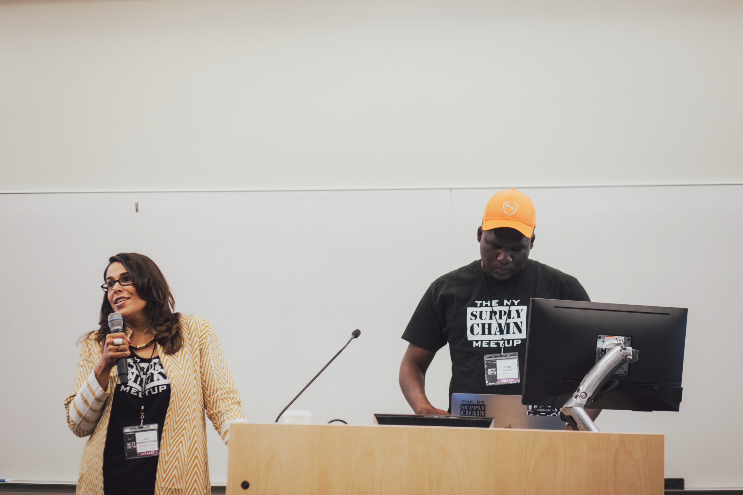 Lisa Morales-Hellebo, and Brian Laung Aoaeh. Kicking off #SCIT2019, June 19, 2019 in NYC. Photo Credit: Ray Neutron.