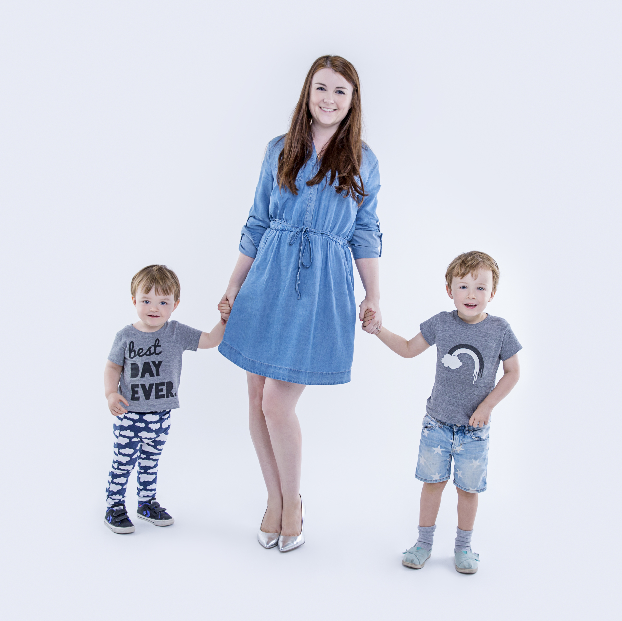 Louise Emma Clarke with her boys Stanley (4) and Wilfred (2)