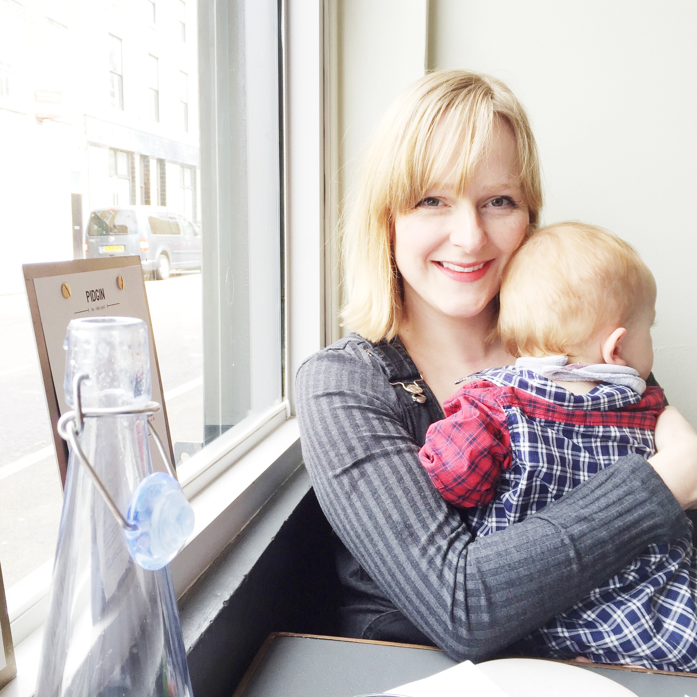 Food lover Katy with her little man Henry (1)