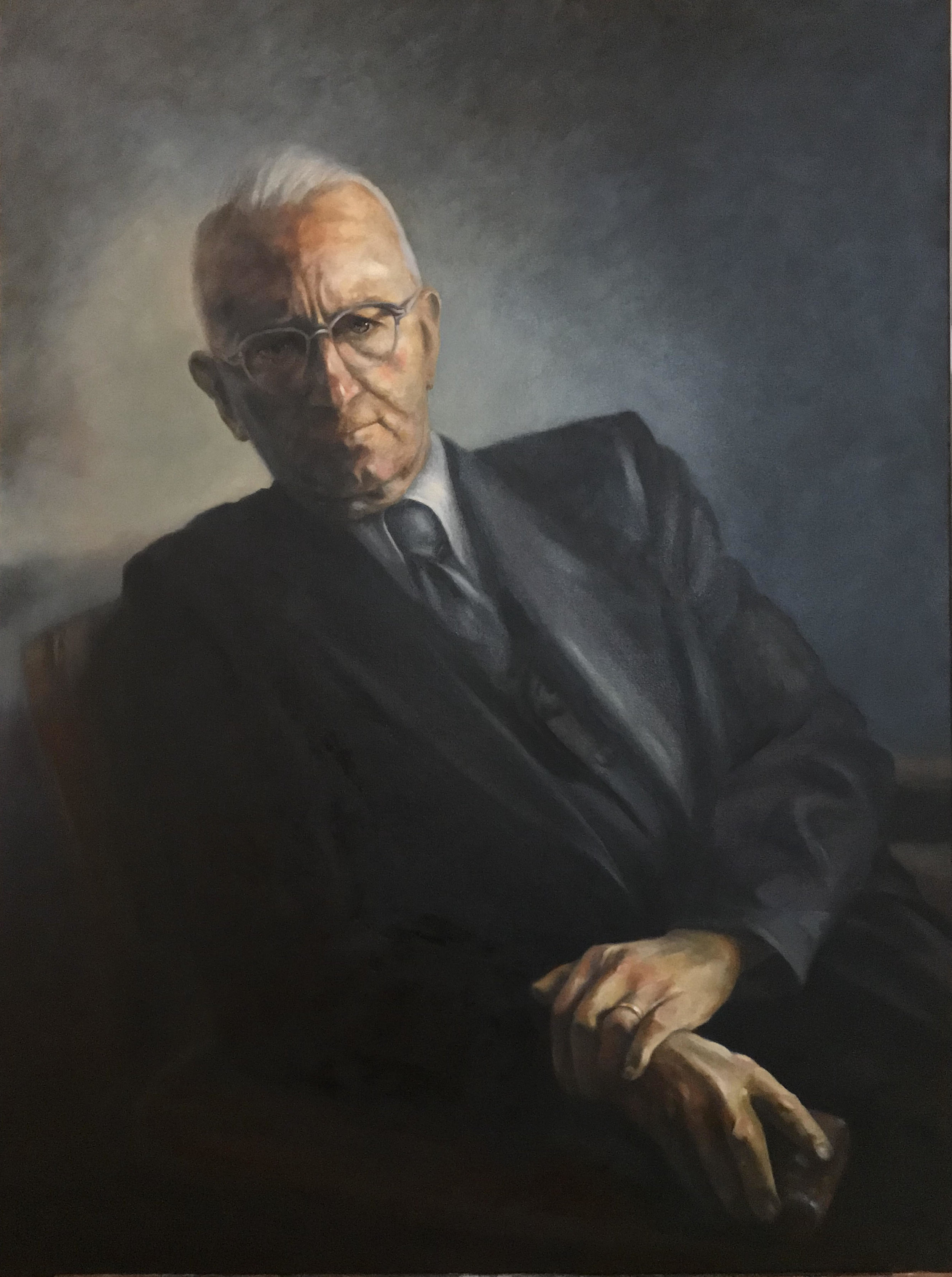 """Cornelius Van Til1895 - 1987 - Oil on Canvas, 30"""" x 40""""© Copyright Daniel Hill RiedelRiedel Creative Group, LLCAll Rights Reserved"""