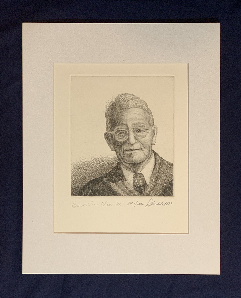 Cornelius Van Til, Defender of The Faith;102 Limited Edition Etching Prints; Signed by Dr. Van Til -