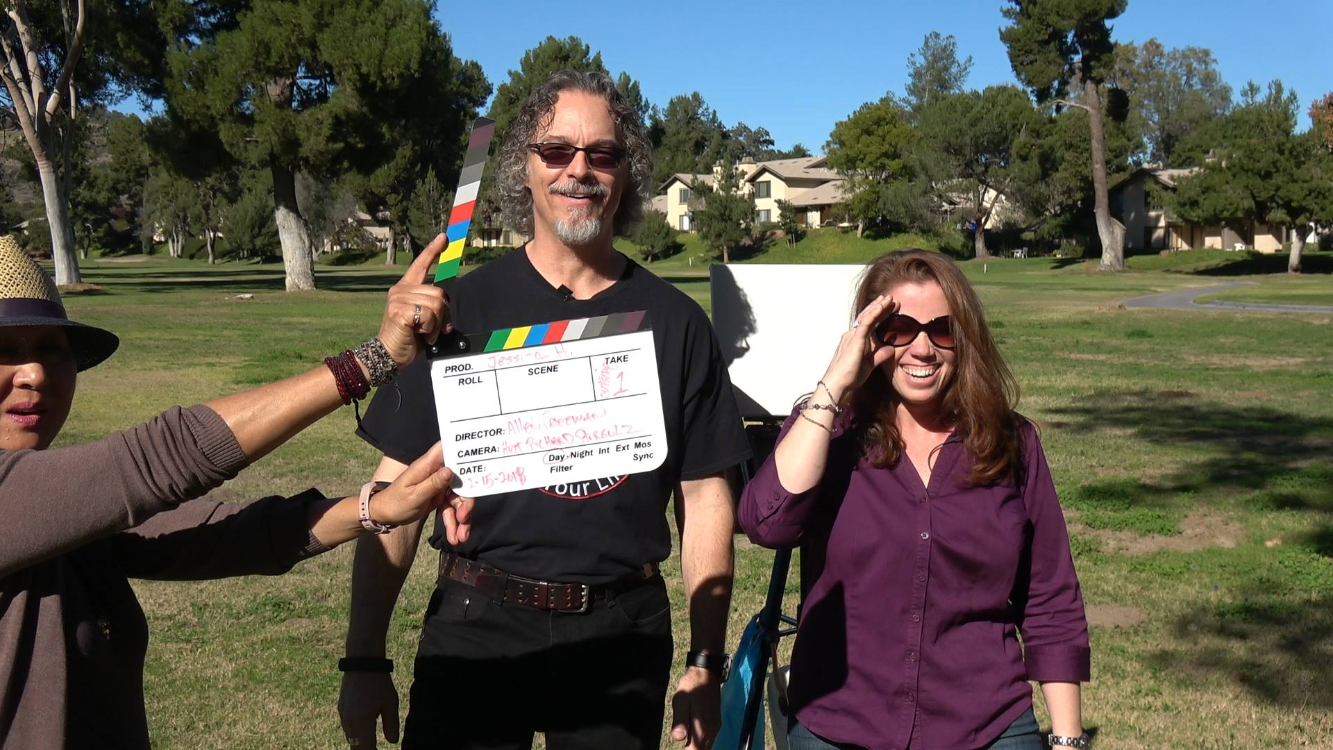 On the set in San Diego with host, Richard Stergulz