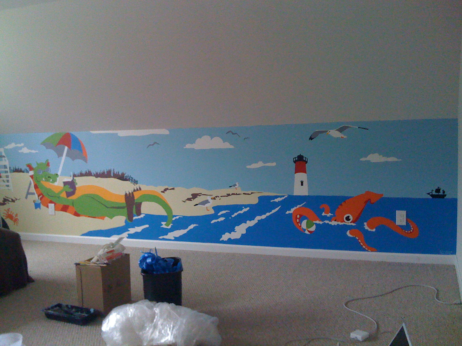 Finished Mural with Natural Light