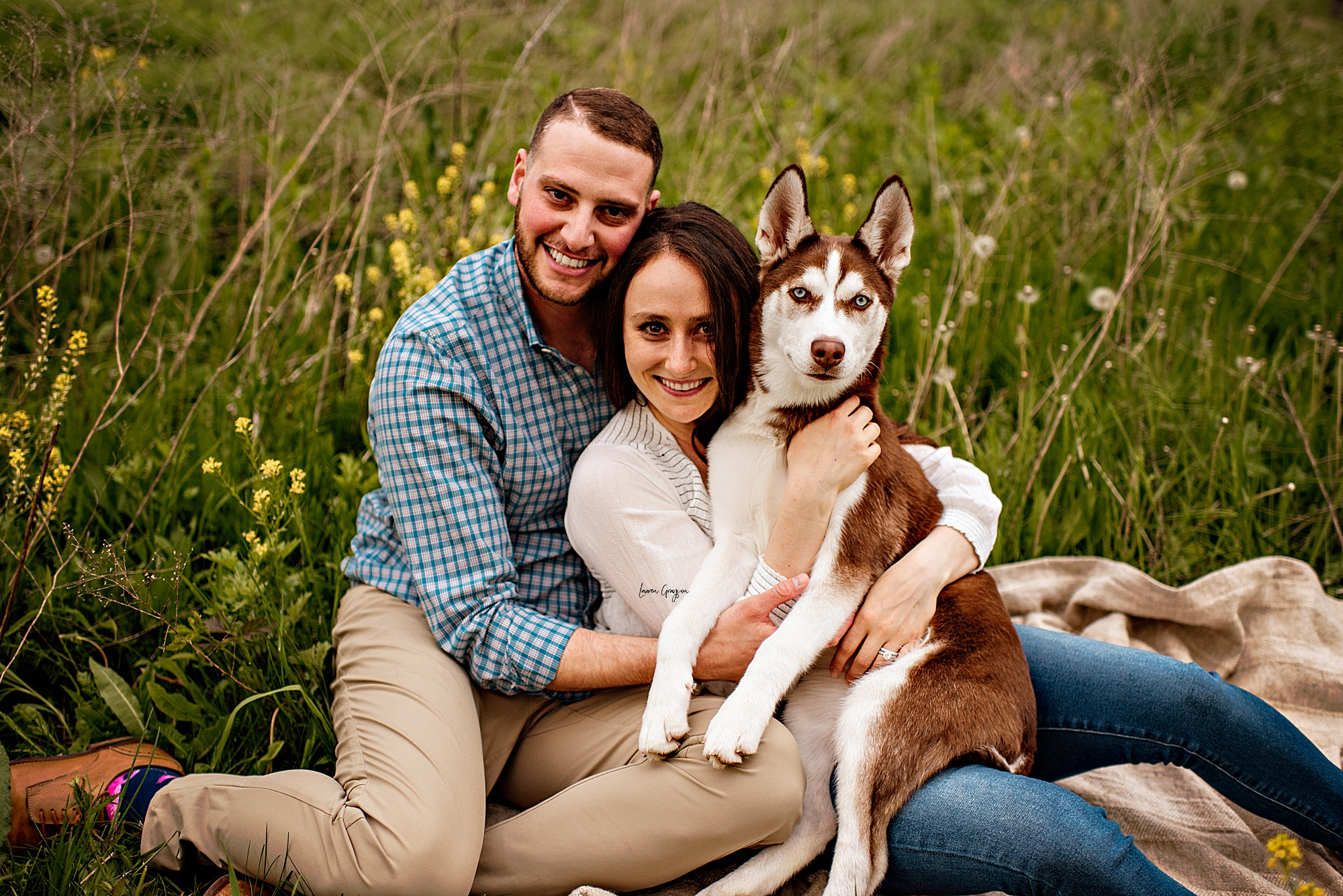 A Fun Couples Session with Dog at the Springfield Bog Metro Park by Cleveland Ohio Photographer Lauren Grayson Photography